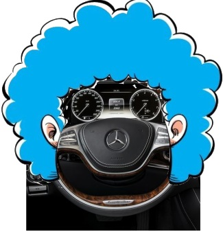 2014 Mercedes S-Class Steering Wheel Clown Face Image